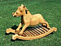 wooden rocking lion - rocking toys from THHTSC