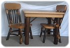 handmade Amish children's furniture - handmade wooden table and chairs for kids
